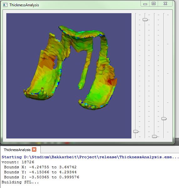 Screenshot of software