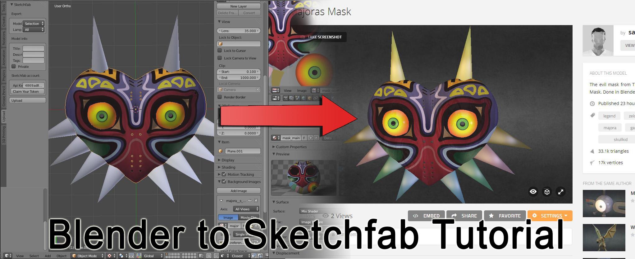 Blender to Sketchfab Tutorial – SaphireStudio